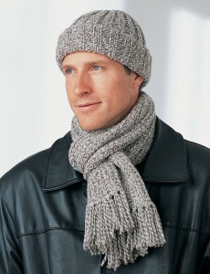 Men's Winter Scarf and Hat