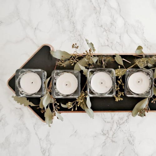 Tea Light DIY Centerpiece
