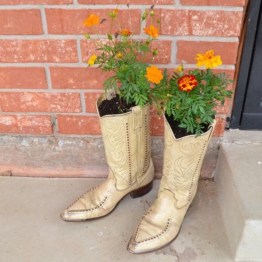 Cowboy Boot DIY Planters