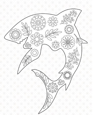 2 shark coloring pages for shark week favecrafts for Coloring pages shark