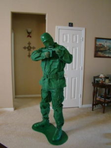 Toy Army Man DIY Halloween Costume
