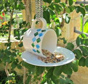 Teacup DIY Bird Feeder