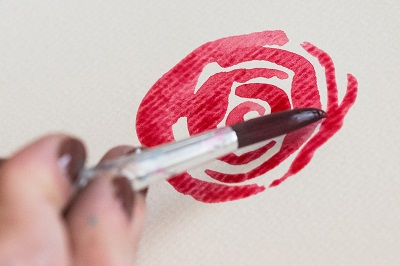 How to Paint Watercolor Roses 4b
