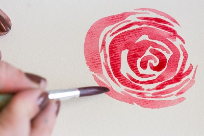How to Paint Watercolor Roses 5b