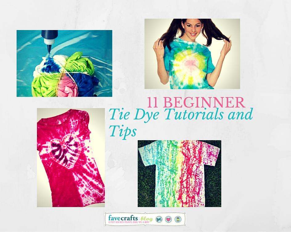 11 Beginner Tie Dye Tutorials and Tips