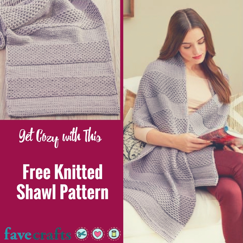Get Cozy with This Free Knitted Shawl Pattern - FaveCrafts