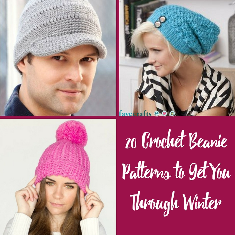 20 Crochet Beanie Patterns to Get You Through Winter