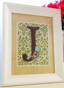 Framed Monogram from Abby Welker
