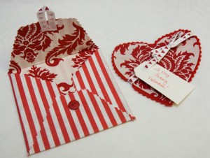 Valentine's Day Heart Card and Envelope by Caroline Devoy