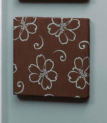 chocolate-flower-wall-art