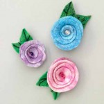 Felted-Roses