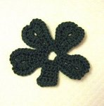 Crochet Geek - Free Instructions and Patterns: Large Crochet Shamrock