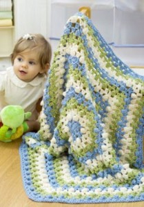 5 Side Baby Afghan 209x300 5 Crochet Crafts for Baby