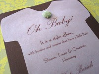 Homemade Baby Shower Invitation