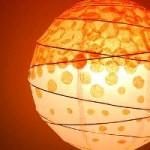 Polka Dot Tissue Lamp