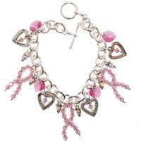 Crystal Breast Cancer Awareness Bracelet