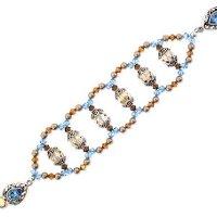 Swarovski Crystal Golden Aqua Bracelet