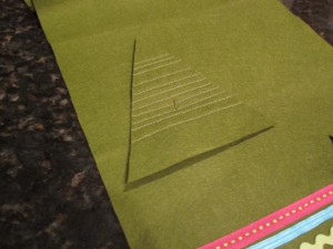 7. place right side down on felt and cut out a backing 300x225 Meet and Make: A Sewn Ornament from Cathie Filian + 18 Days til Christmas Giveaway