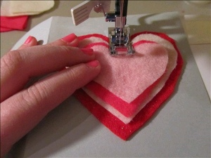 Card 7 How to: Make Sewn Valentines