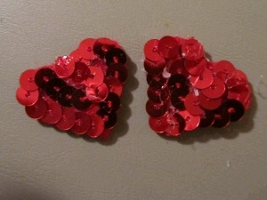 Earrings 5 Make Sequin Heart Earrings