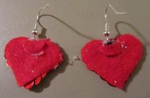 Earrings 6 Make Sequin Heart Earrings