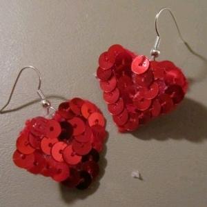 Earrings 7 Make Sequin Heart Earrings