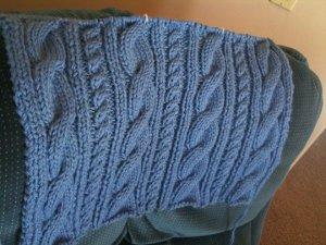 Aran Baby Blanket