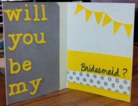 BM card 3 Cricut Creations: Will You Be My Bridesmaid Cards