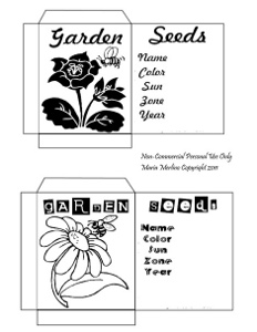 seed packets 1 Guest Post: Printable Seed Packets