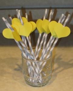charming heart straws