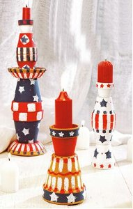 July 4th Candles Fireworks, Festivities, and FaveCrafts: Do It Yourself Fourth of July!