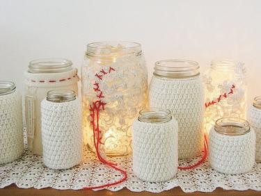 Kristín Hrund : crochet candle jars - blogspot.com