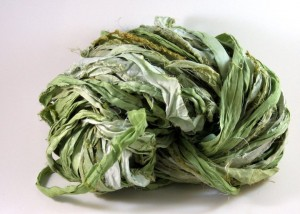 DarnGoodYarn.com is looking to name a new collection of yarn products. It is all Recycled Sari Silk Ribbon Yarn.