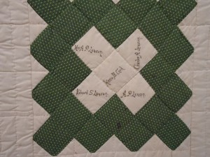 Lady's Aid Society Signature Quilt