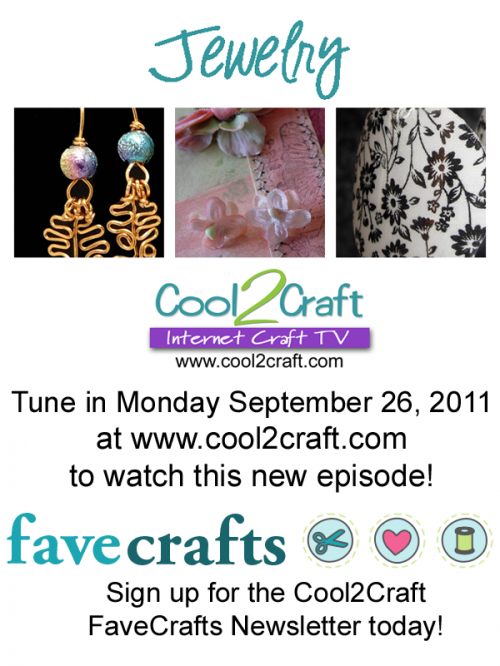 Cool2Craft TV - The Jewelry Episode - 9-26-11