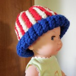 Howto Vertical Stripe an American Flag Hat For Babies