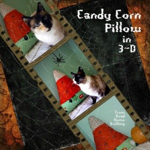 Quilted Candy Corn Pillow