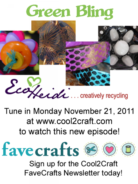 11-21-11 Green Bling 4-up FaveCrafts Cool2Craft