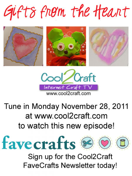 11-28-11 Gifts from the Heart 4-up FaveCrafts Cool2Craft