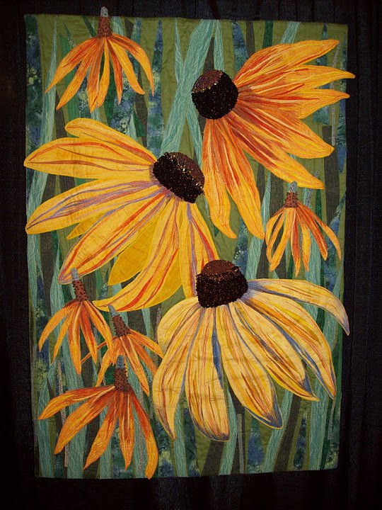 Black-Eyed Susans and Yellow Mexican Hats by Mary Ann Vaca-Lambert