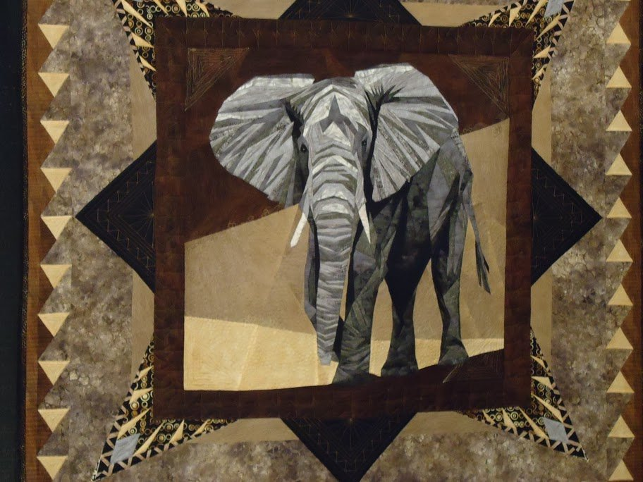 Elephant Quilt Award Winning Quilts at Quilt Market