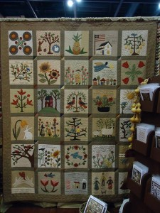 primitive applique quilt