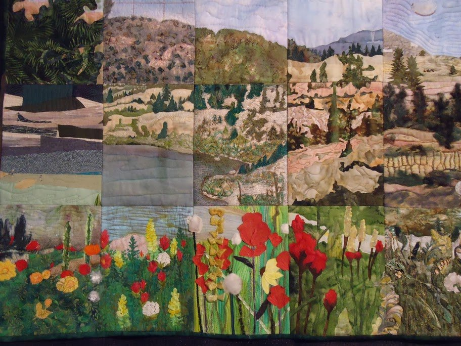 Sectioned Mountain Quilt Award Winning Quilts at Quilt Market