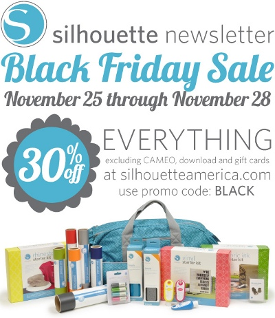 Silhouette Sale Silhouette Cameo Black Friday Sale!