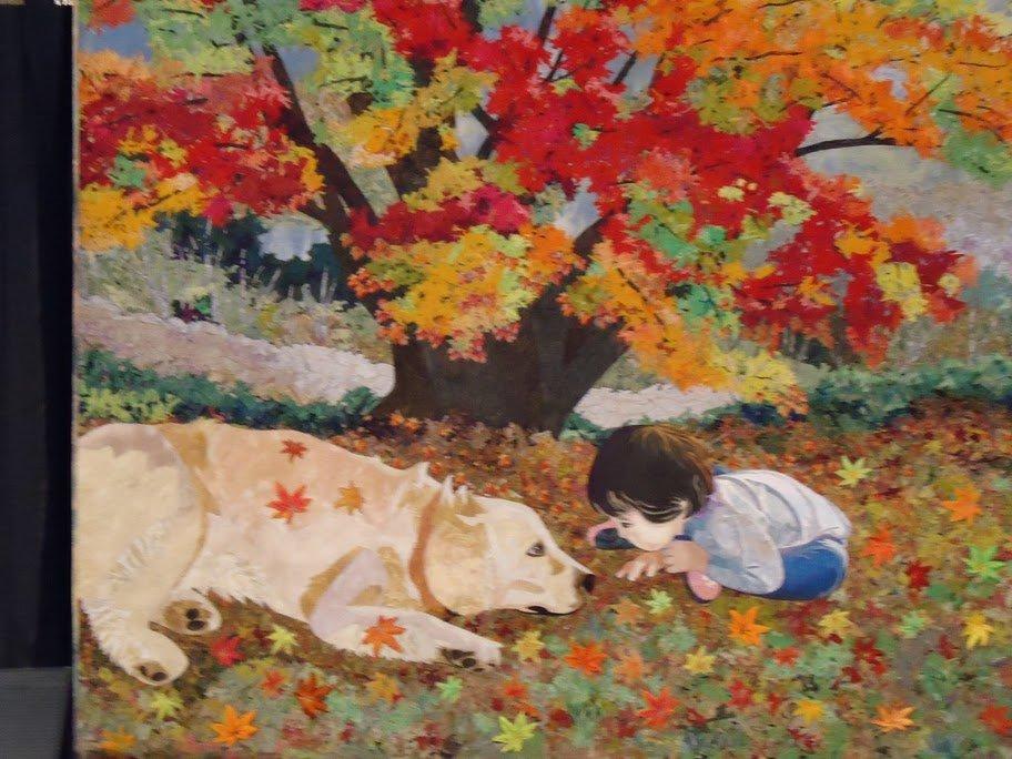 Yellow Lab Autumn Quilt Award Winning Quilts at Quilt Market