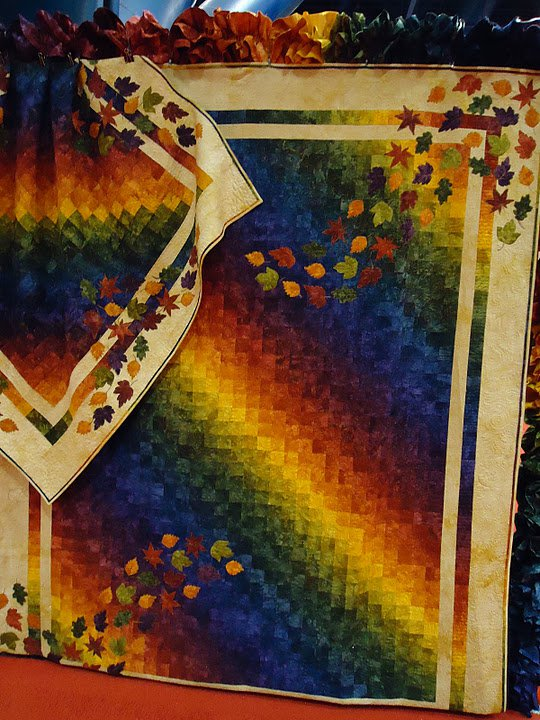 Autumn Rainbow Bargello Quilt from Starr Design Fabrics