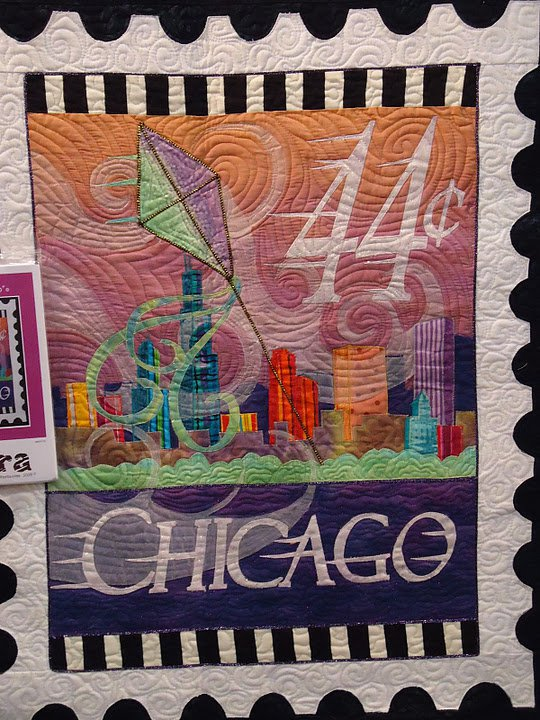 Chicago Postage Stamp Quilt from Zebra Patterns