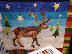 Reindeer Mosaic Quilt from B.J. Designs and Patterns