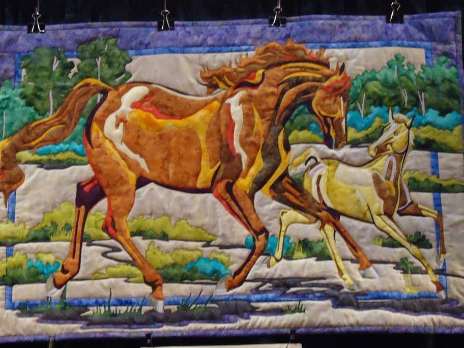 Horse Quilt from Bigfork Bay Cotton Co.