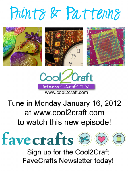 1-16-12 Cool2Craft FaveCrafts Prints and Patterns 3 up